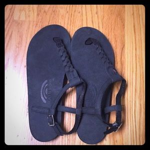 New leather rainbow sandals